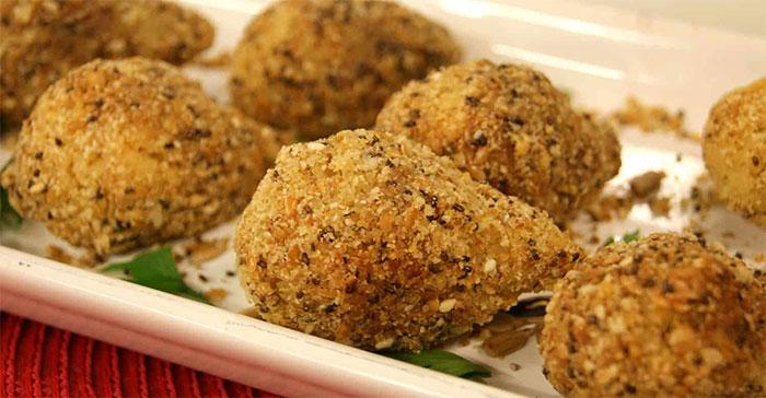 coxinha com massa de batata doce, receita simples e rápida